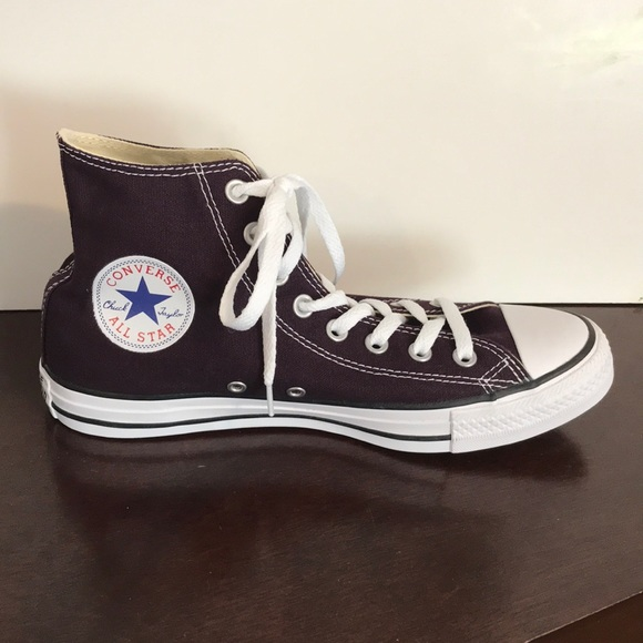 52d584a6b Converse Shoes | Nwot Black Cherry Unisex High Tops | Poshmark